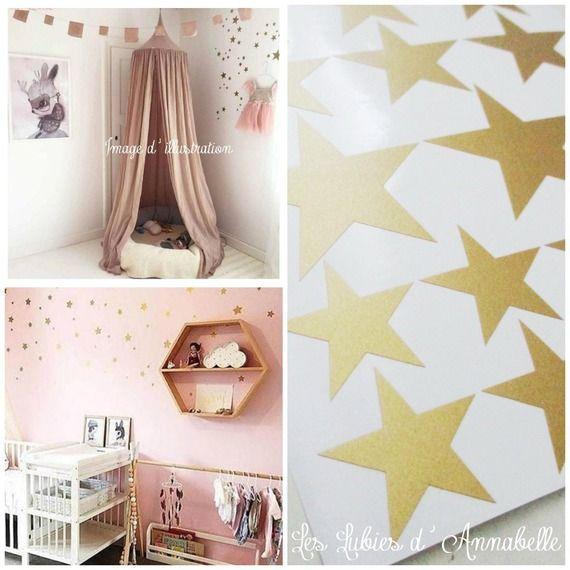 Stickers Etoiles Dorees Decoration Pour Chambre D Enfant Style