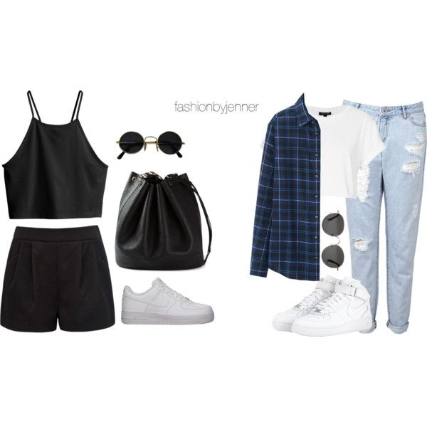 Kylie: outfits ft nike Air Force 1 by fashionbyjenner on Polyvore featuring  moda, Uniqlo