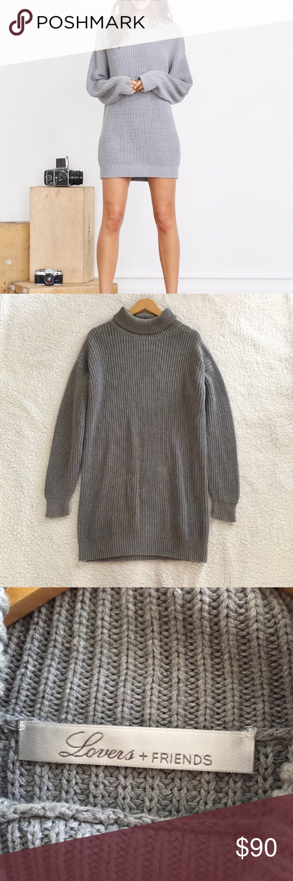 157b846d888 Lovers + Friends Christina Sweater Dress All wear is pictured - faint  makeup stain could easily be washed and minor pulls - otherwise in great  condition.