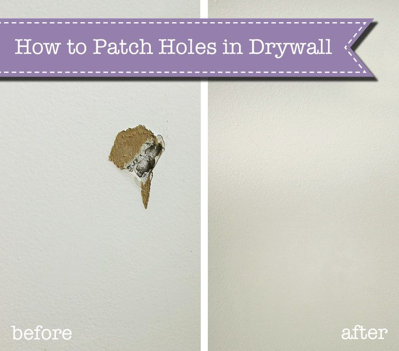 The Super Simple Way To Fix Holes In Drywall Patch Hole