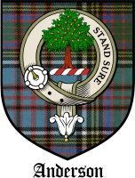 Clan anderson crest an oak tree motto stand sure ink for Family motto tattoos