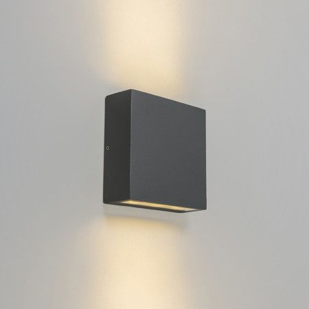 Outdoor Wall Lamp Otan 6 Led Dark Grey Sheet Metal