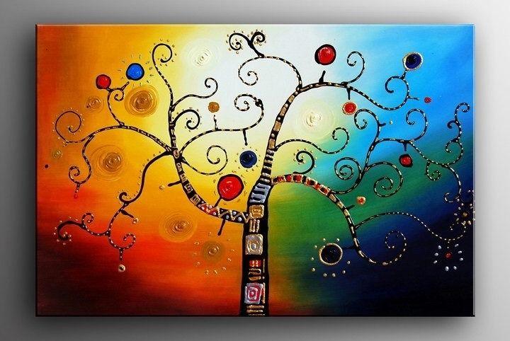 Cuadros Arbol D La Vida Abstractos Pinturas Grandes Oferta Arte De Arboles Pintura Grande Pintura Al Oleo Sobre Lienzo