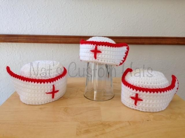 Crochet Nurse Hat  by fricknekhoff | Crocheting Pattern