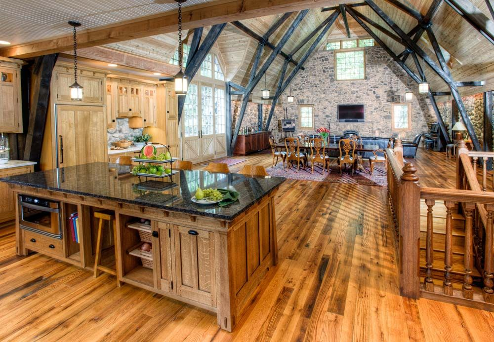 Island Log Home Kitchens Farmhouse Kitchen Design Rustic Country Kitchens