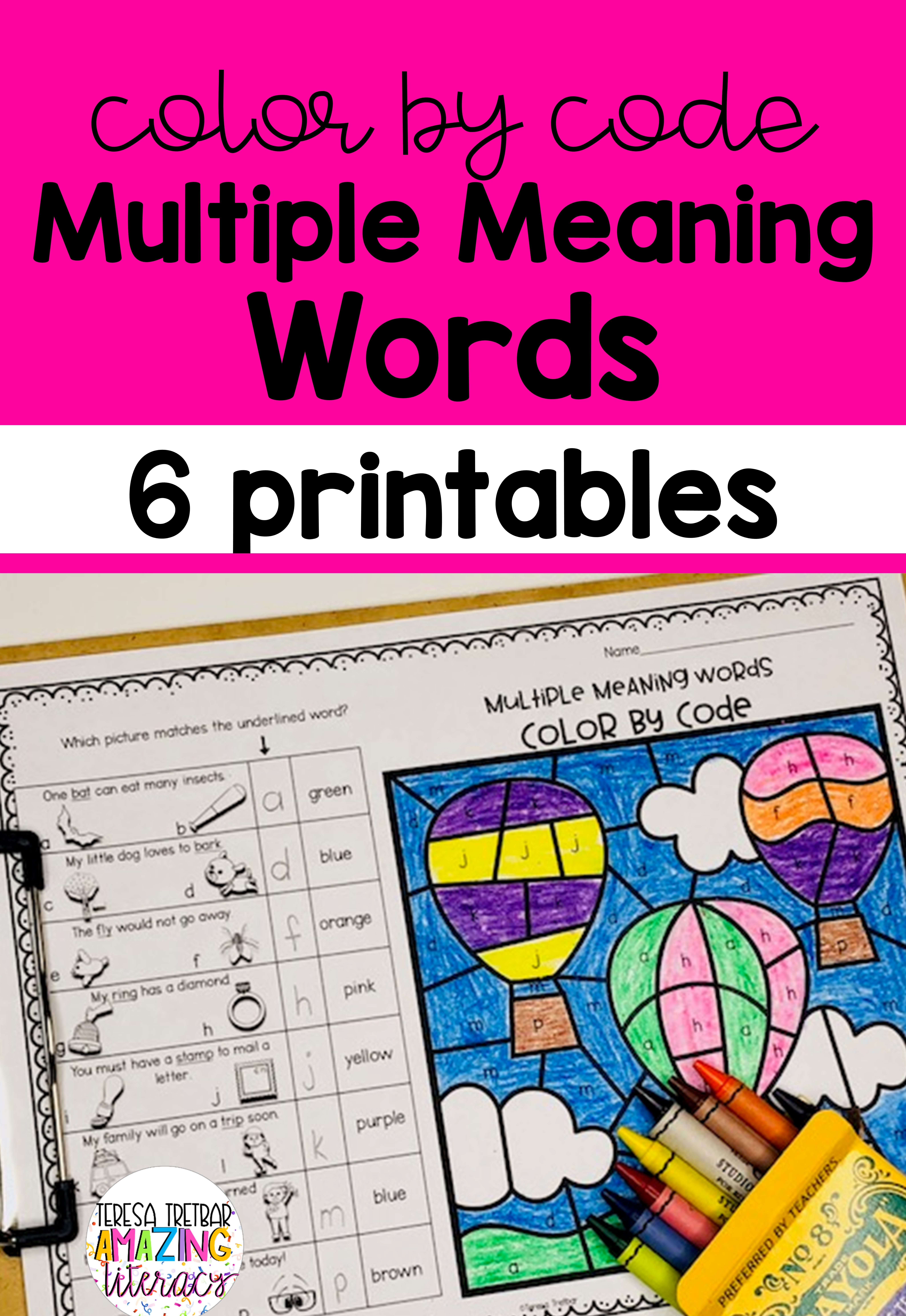 Multiple Meaning Words Color By Code