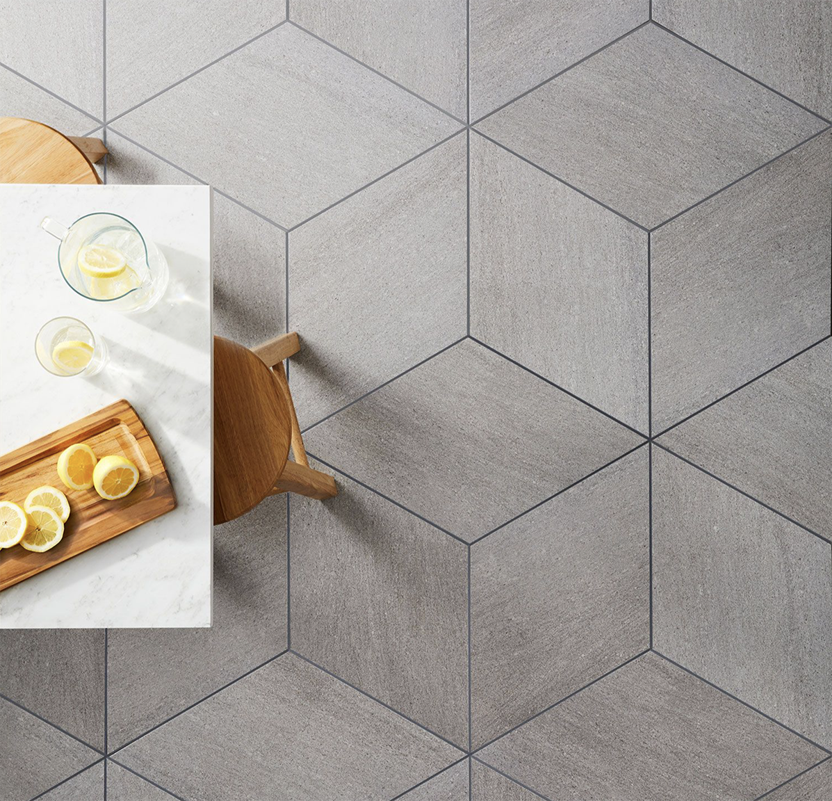Diamond City Grey Porcelain Floor And Wall Tile 16 X 28 In Flooring Porcelain Flooring Diamond Tile Floor