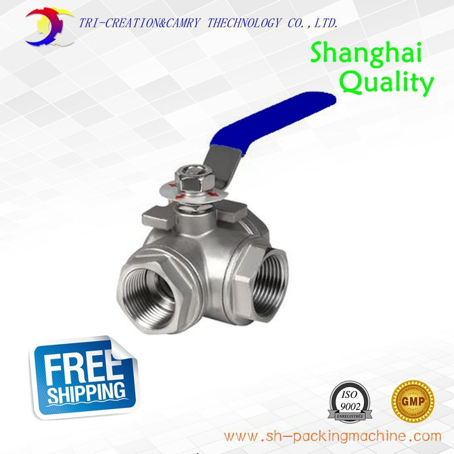 1 Dn25 Handle Female Ball Valve 3 Way 304 Screwed Thread Stainless Steel Ball Valve Manual At T Port Gas Oil Liquid Valve Cool Things To Buy Oils Gas