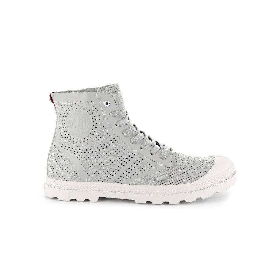Womens Pampa Mid Lp Perf Femme Hi-Top Trainers Palladium