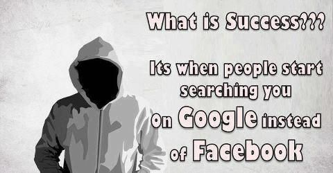 What is Success? It's when people start searching you on Google instead of Facebook MelanysGuydlines.com