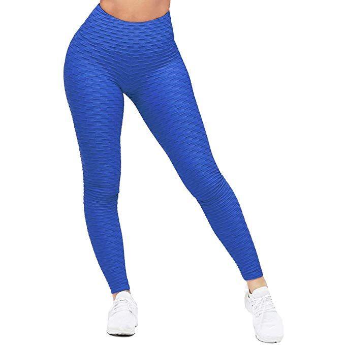 bd33fe239 K BAO Women Fashion Yoga Pants Scrunch Booty Sexy Elastic Fitness Workout  Gym High Waist Athletic Sport Capri Leggings (L