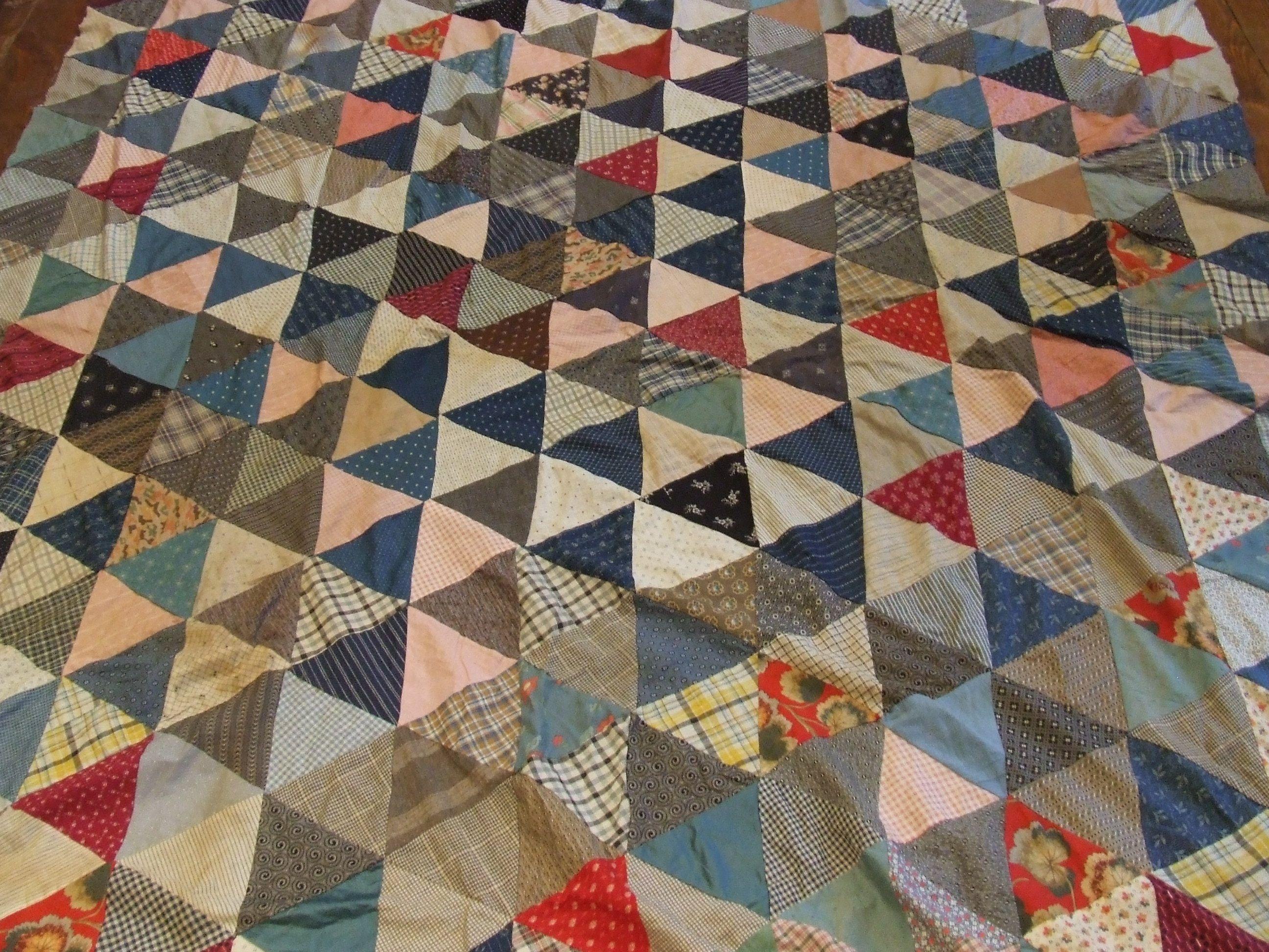 vintage quilts | Thousand Pyramids Antique Quilt Top | Tim Latimer ... : vintage quilt tops - Adamdwight.com