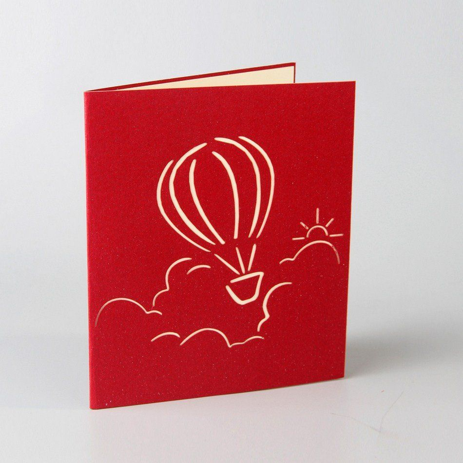 Hot Air Balloon 3-D Pop Up Card