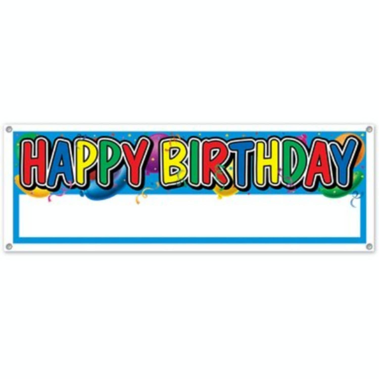 club pack of 12 multi colored happy birthday customizable banner