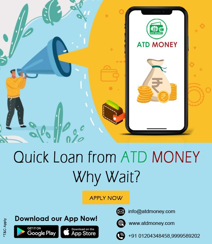 Atd Money Helps You To Get Personal Loans With Ease Quick Loans Personal Loans Instant Cash Loans