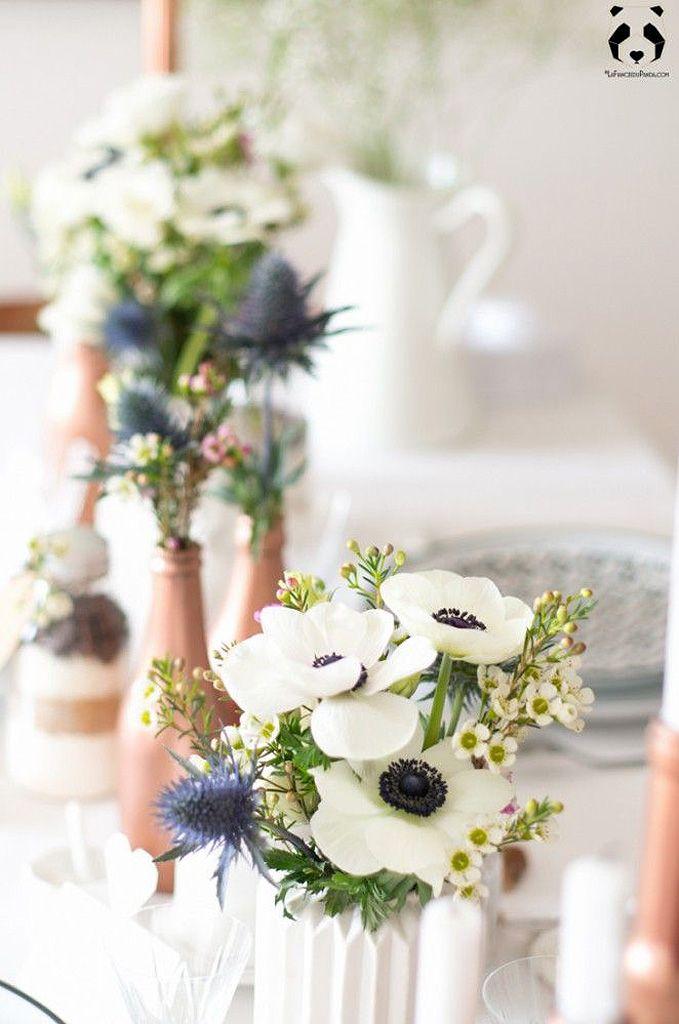 Bouquet De Fleurs Blanches Fait Maison 25 Bouquets De Fleurs Blanches Pour Toutes Les Occasions Elle Deco Table Mariage Table Mariage Deco Mariage Hiver