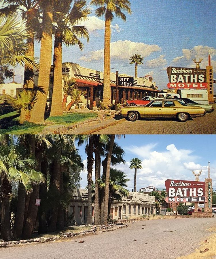The Buckhorn Baths Motel In The 1960s And In 2019 Main Street