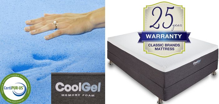 Classic Brands Cool Gel 12 Inch Gel Memory Foam Mattress Review