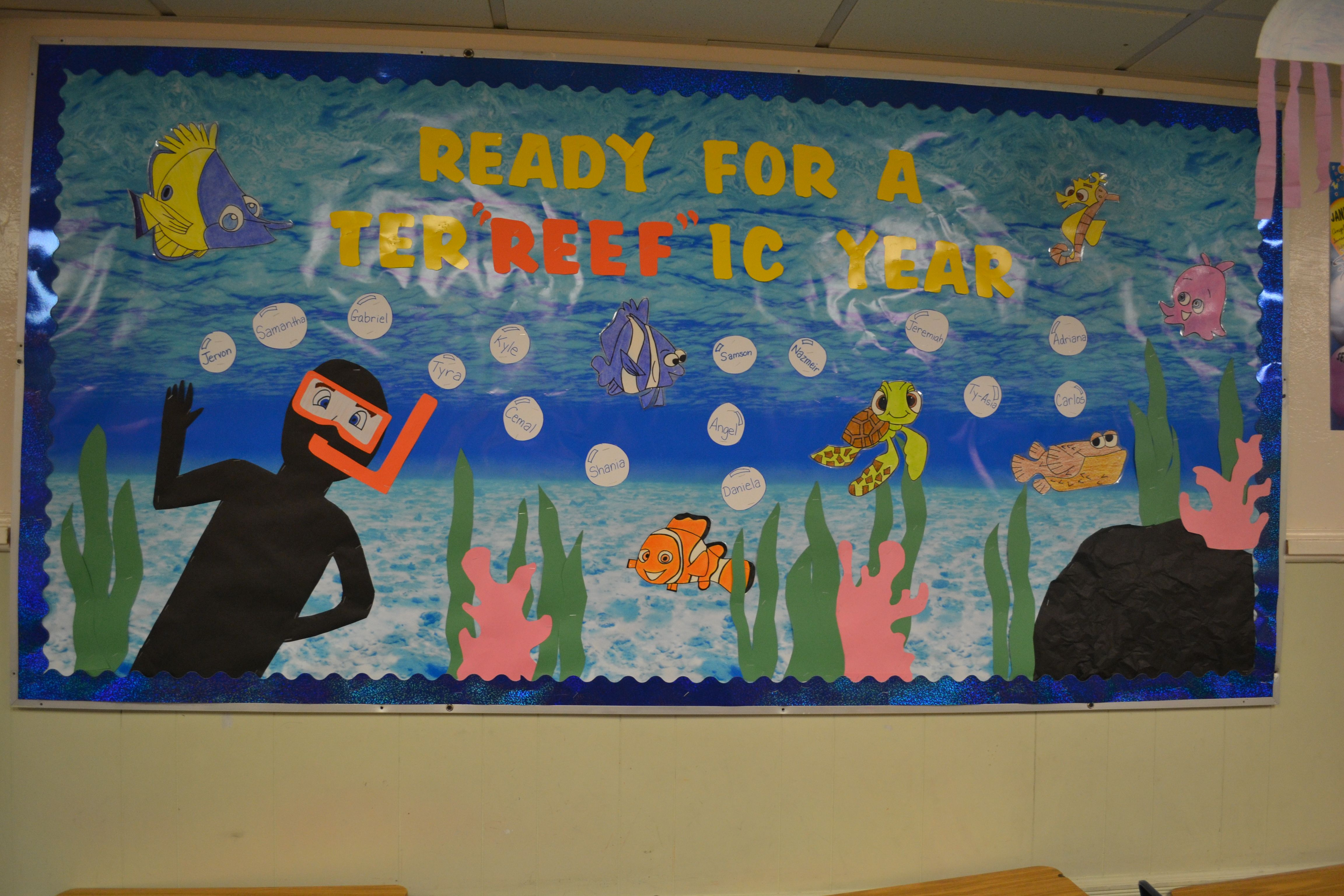 Finding Nemo Themed Classroom Ready For A Ter Reef Ic