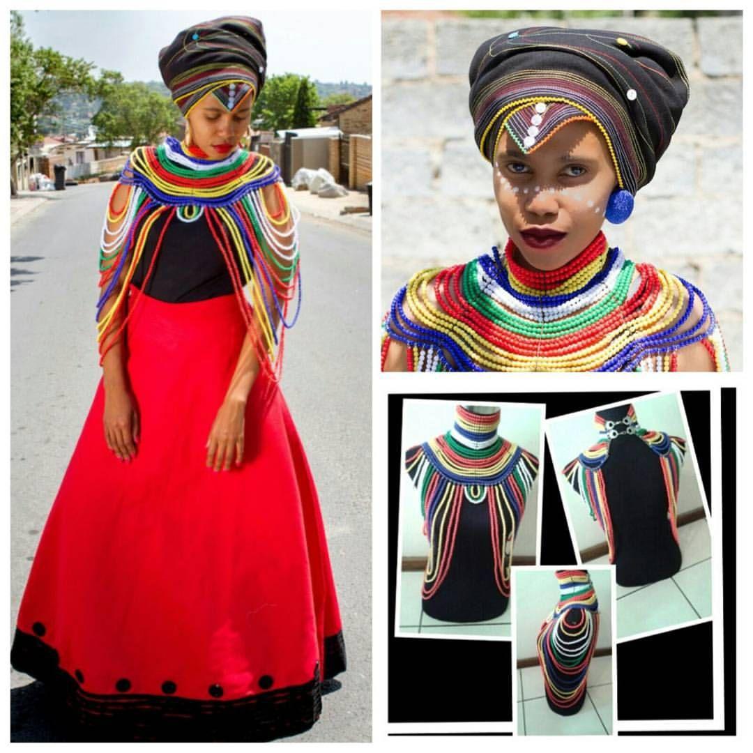 Akho from myclosetbyakho wearing nam jewelry xhosa on point love it