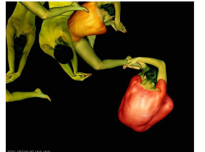 una verdura, con cuerpos humanos
