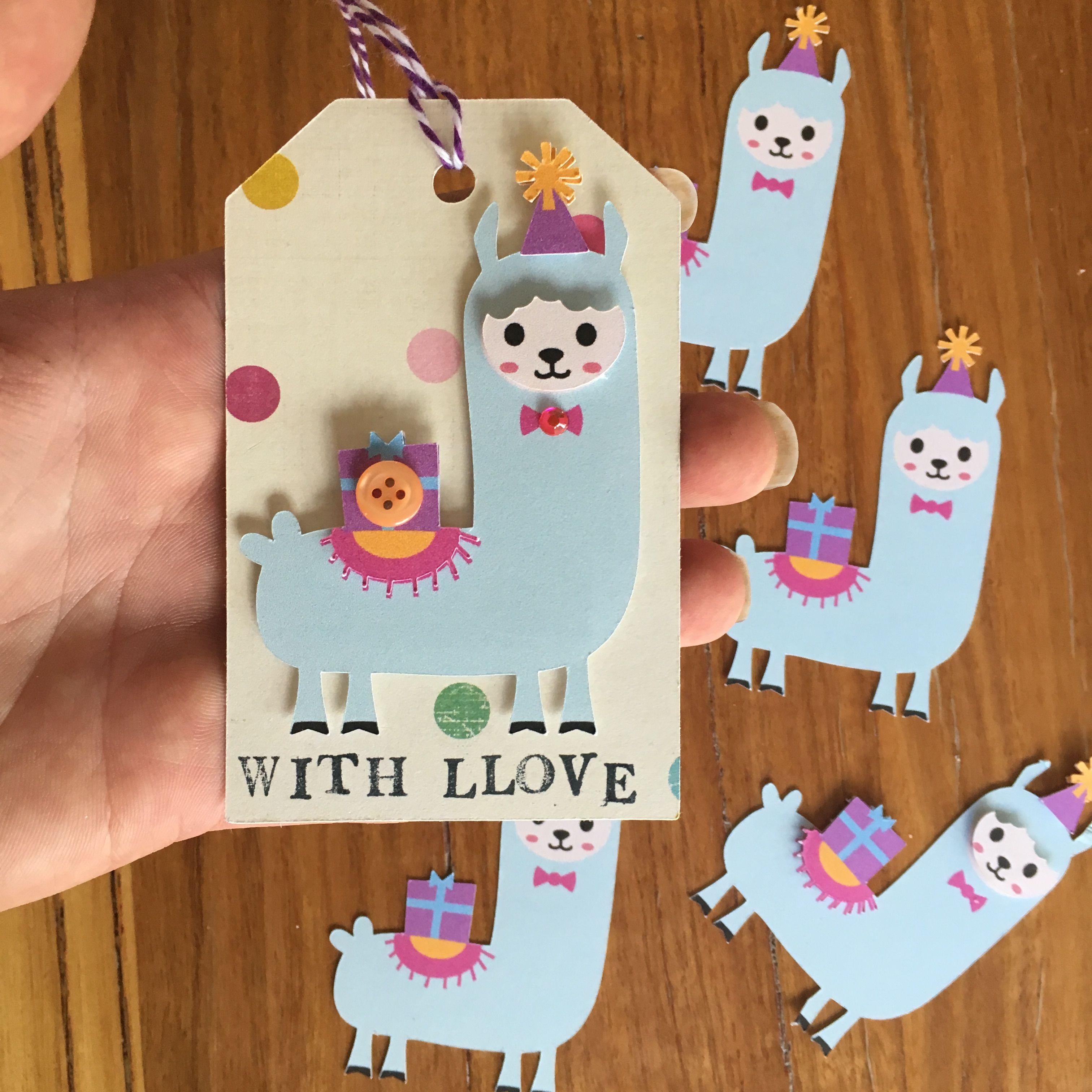 321051b2ddf Llama alpaca gift tag handmade cricut card with llove pun Sanqunetti design  willow fox design svg cutting file print and cut