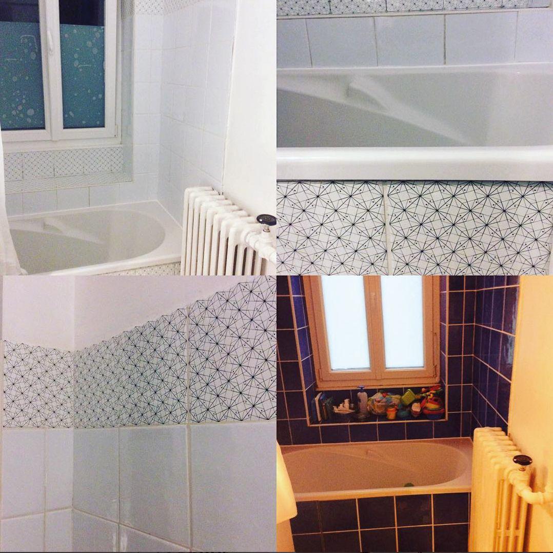 carrelage adh sif avant apr s carrelage de salle de bain dominot e par lesvoyagesimmobiles avec. Black Bedroom Furniture Sets. Home Design Ideas