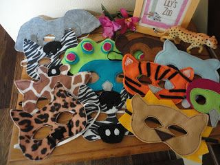 Animal Masks for a zoo party? Yes please! This post is awesome!