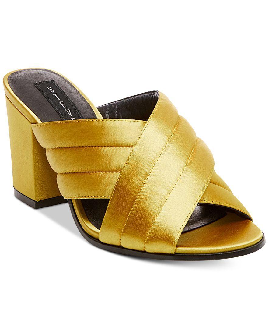 26cbfd614ca STEVEN By Steve Madden Women s Zada Slide-On Block-Heel Sandals ...