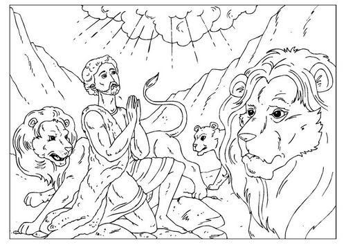 coloring page daniel in the lions den - Daniel And The Lions Den Coloring Page