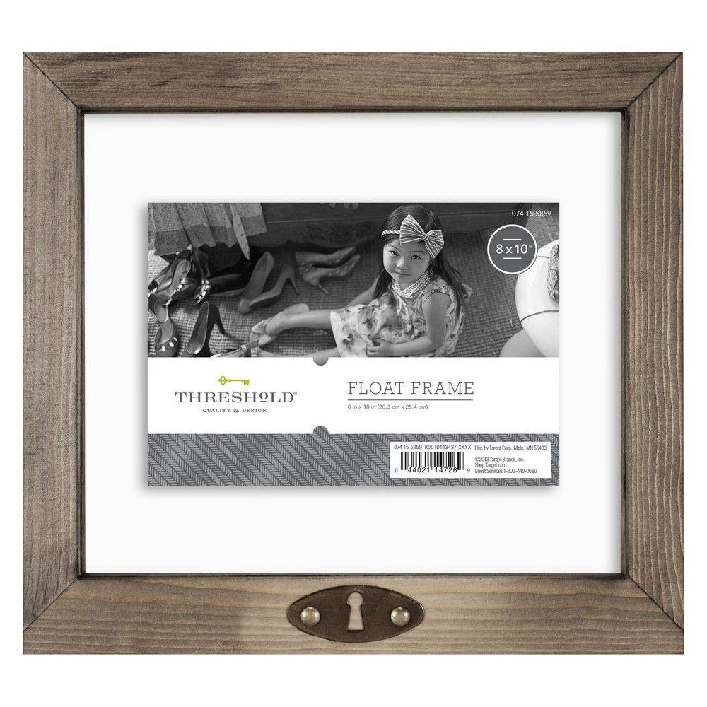 5 X7 Keyhole Float Frame Threshold Weathered Gray Floating Frame Frame White Picture Frames