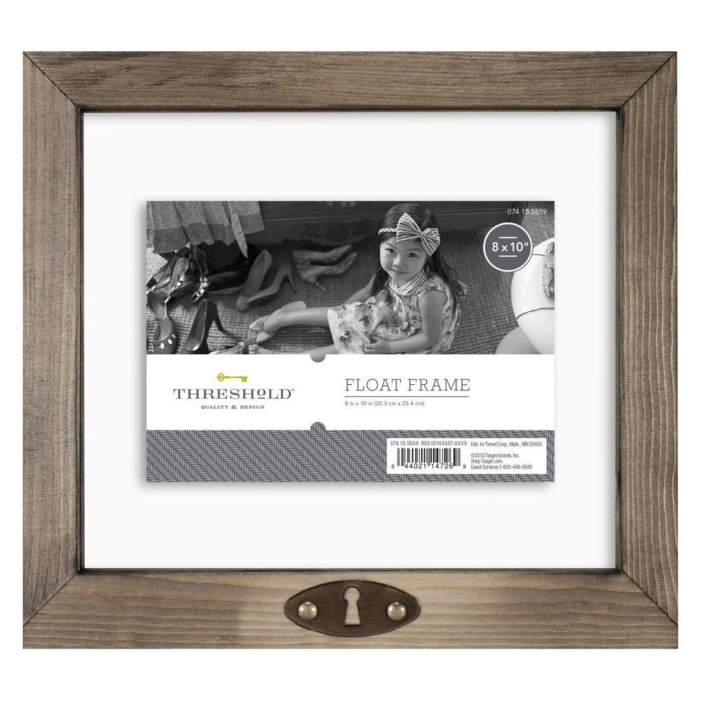 5 X7 Keyhole Float Frame Threshold Weathered Gray Floating Frame Frame White Picture Frames