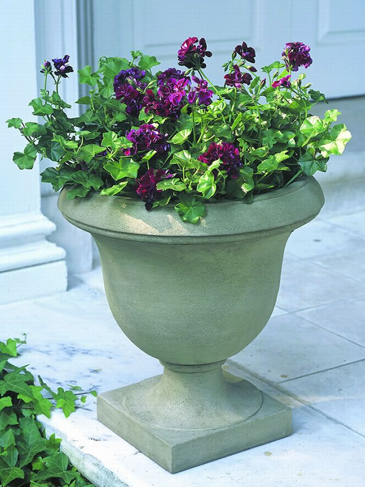 The Litchfield Urn adds simple elegance and grace to your outdoor