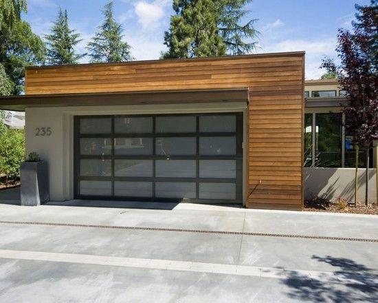 Modern Wood And Concrete Garage Garage Exterior Modern Garage