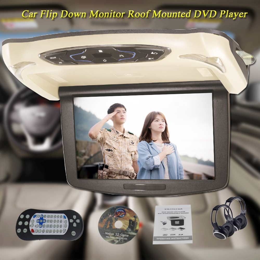 BigBigRoad 10.1 Inch LCD car HDMI Monitor Roof mount