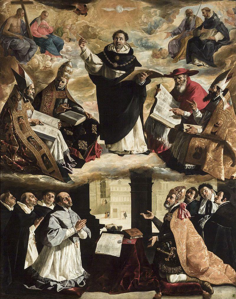 Francisco de Zurbarán - Apoteosis de Santo Tomás de Aquino - 1631