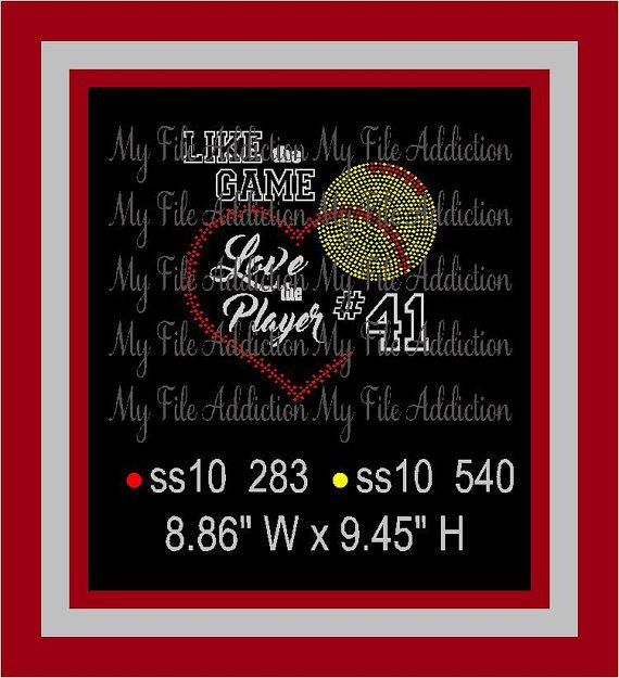 Download Like the Game Love the Player Instant Download Rhinestone ...
