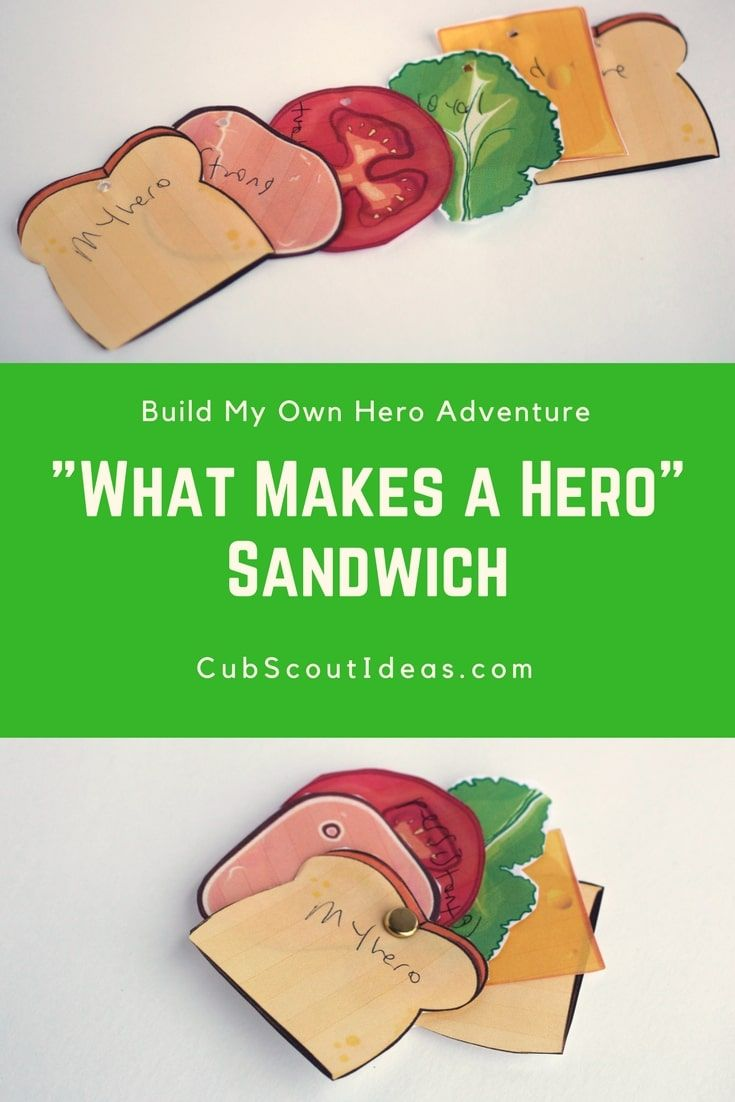 Cub Scout Adventure: How to Build My Own Hero Sandwich