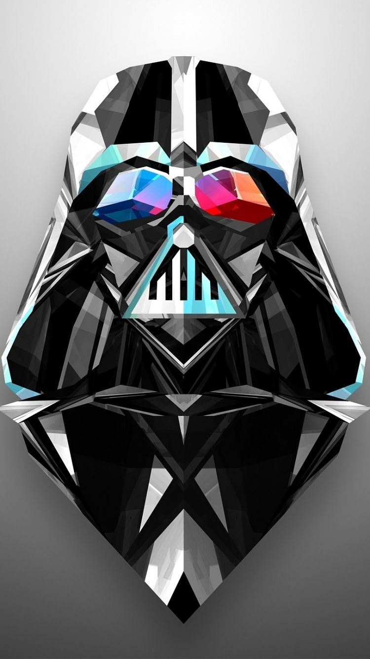 Low Poly Darth Vader Wallpaper