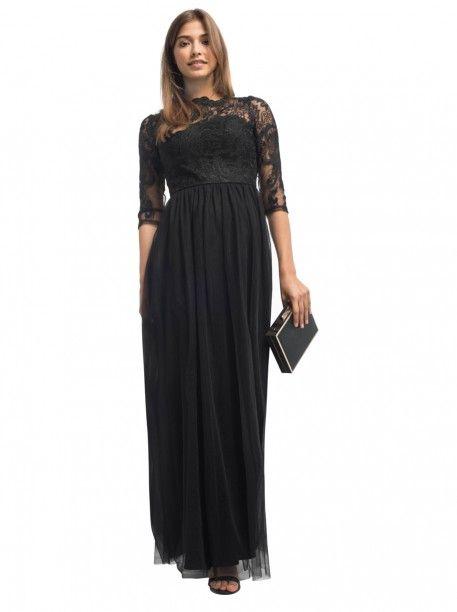 Černé plesové šaty Chi Chi London Tanni Krásné společenské šaty vhodné na  plesy či galavečery b95b375114