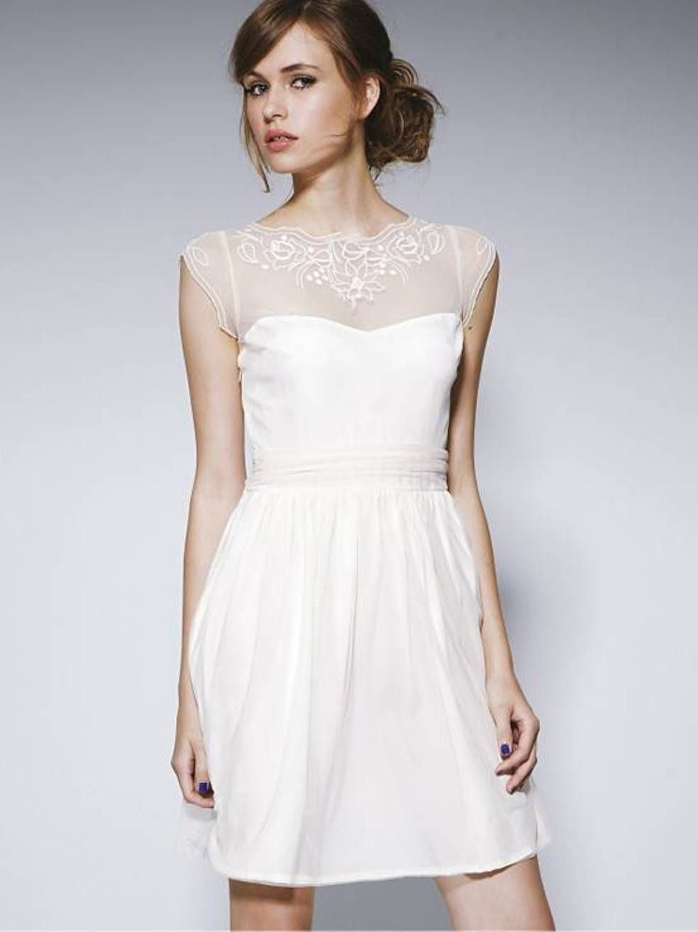 White Casual Wedding Dress