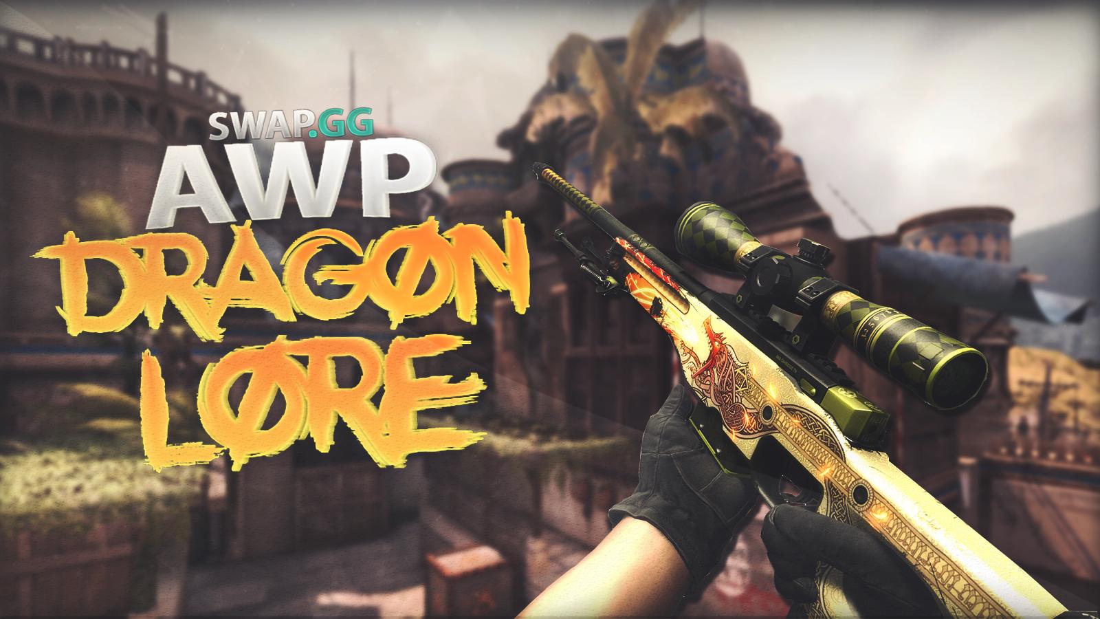 AWP Dragon Lore 4K Wallpaper