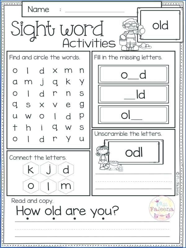Writing Sentences Worksheets For Kindergarten Pdf