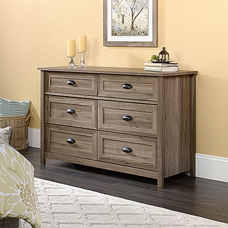 County Line Dresser Salt Oak D Dresser Drawers 6 Drawer Dresser Furniture