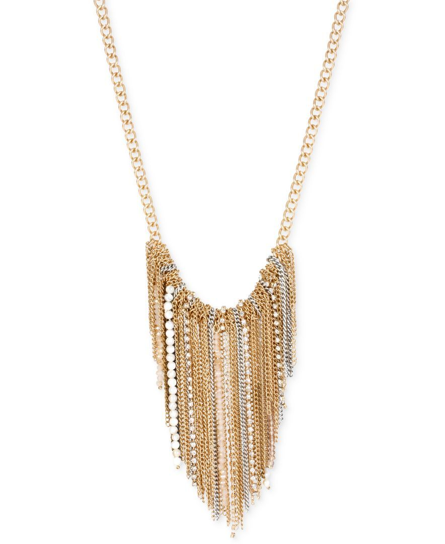 Kenneth Cole New York Two-Tone Fringe Necklace