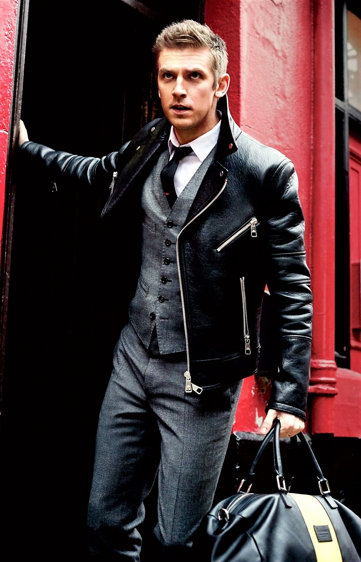 Pin by Sergio on Style Leather jacket outfits, Dapper