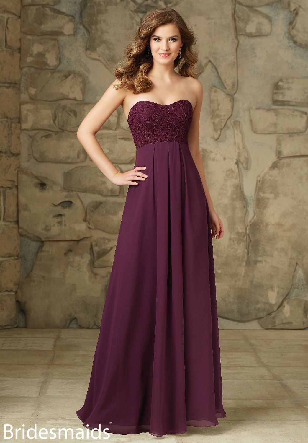 03fe93e3ca View Dress - Mori Lee BRIDESMAIDS FALL 2015 Collection: 107 - Lace and  Chiffon | MoriLee Evening,Prom,Bridesmaids