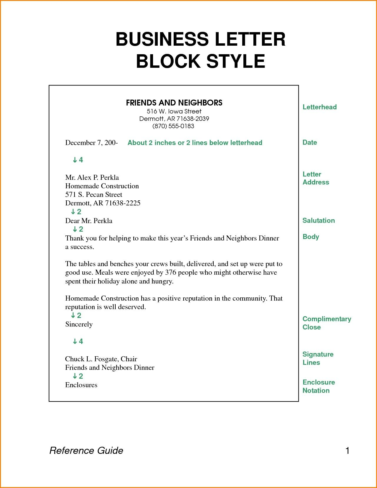 Valid Sample Of Business Letter In Block Style Business