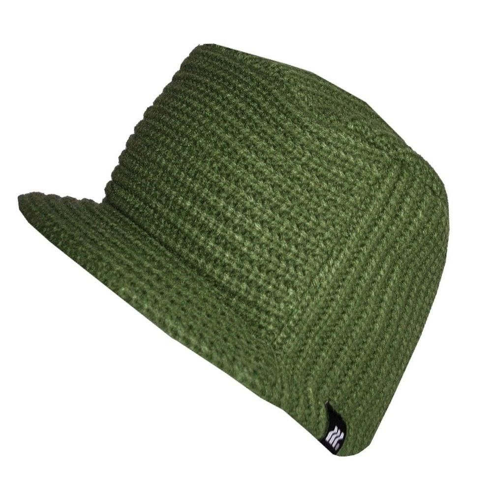 7efcaf11790349 Boxfresh Mens Abask Knit Green Peaked Beanie Hat | Beanie Hats in ...