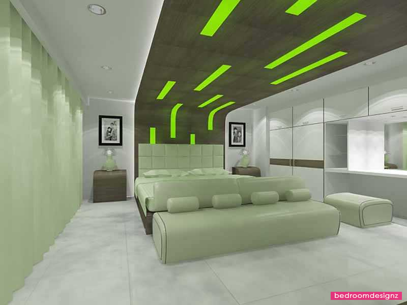 Luxurious Green Bedroom Design With Charm Program - http://www ...